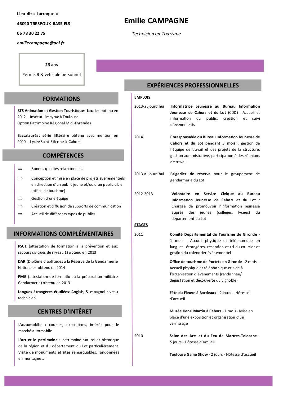 emilie campagne cv 2014  emilie campagne cv 2014 pdf