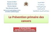 la prevention primaire des cancers