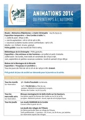 Fichier PDF animations 2014