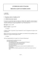 synthese de la loi du 27 mai 2014 procedure penale
