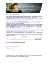 Fichier PDF avis d authentification de compte paypal