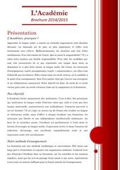 brochure de presentation