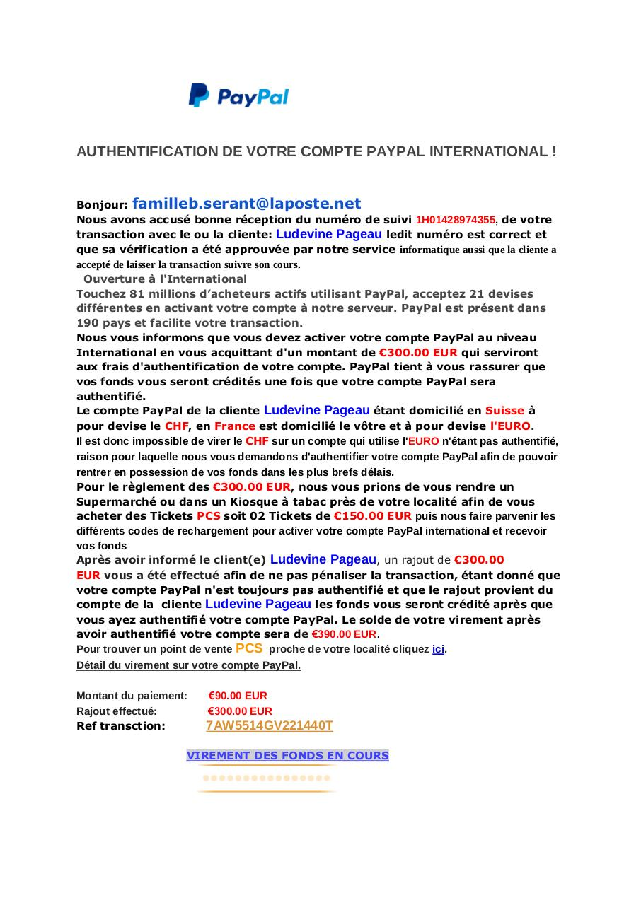 AUTHENTIFICATION DE VOTRE COMPTE PAYPAL INTERNATIONAL.pdf - page 1/2