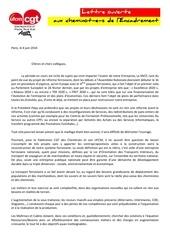 lettre ouverte aux maitrises et cadres de paris sud est