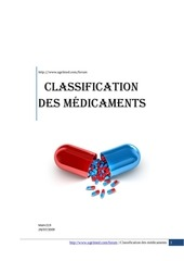 classification des m dicaments 1