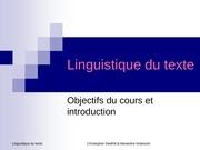 intro linguistique du texte