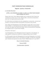 parti democratique senegalais