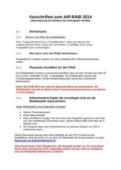 vorschriften zum air raid 2014