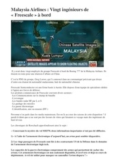 Fichier PDF malaysia airlines