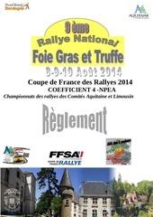 reglement 9eme rallye national du foie gras et de la truffe