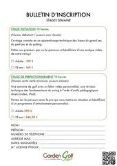 Fichier PDF bulletin inscription stage
