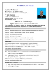 Fichier PDF cv saadat