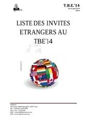 liste des invites etrangers