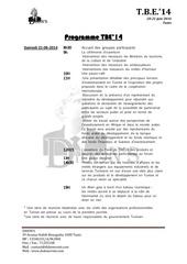 programme tbe 2014