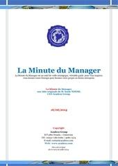 la minute du manager 16juin 2014