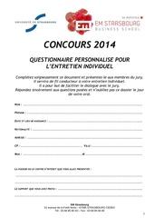 questionnaire personnalise candidats