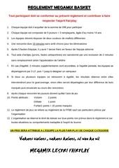 reglement megamix basket 2014