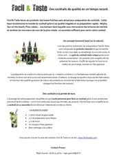 Fichier PDF des cocktails de qualite en un temps record