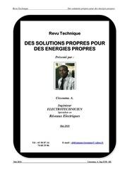 des solutions propres pour des energies propres