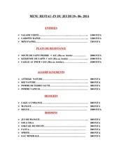 menu du 19 06 2014