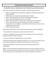 modifications structure manif te 21 juin 2014