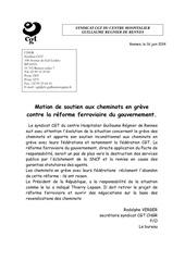 motion soutien cheminots