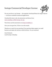 isotope commercial developer license