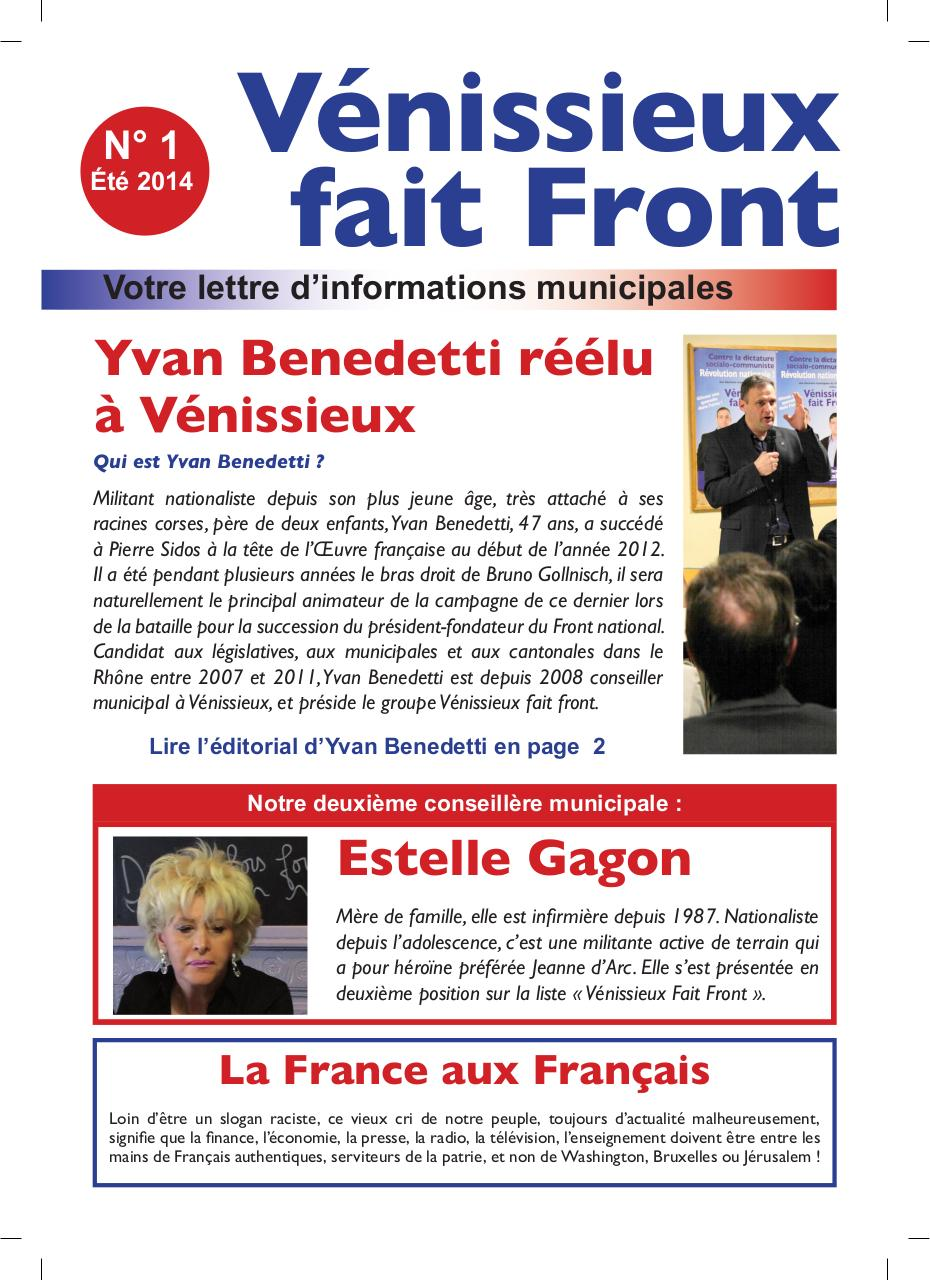 Aperçu GAZETTE VFF NO 1 ETE 2014 - 4 PAGES.pdf - Page 1/4