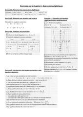 exercices de revisions sur le chapitre 3