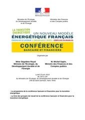 programme conference bancaire et financiere