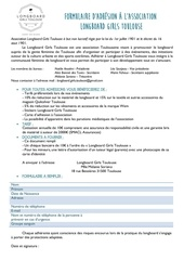 Fichier PDF formulaire adhesion