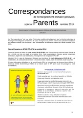 correspondances parents juin 2014 sur r2014