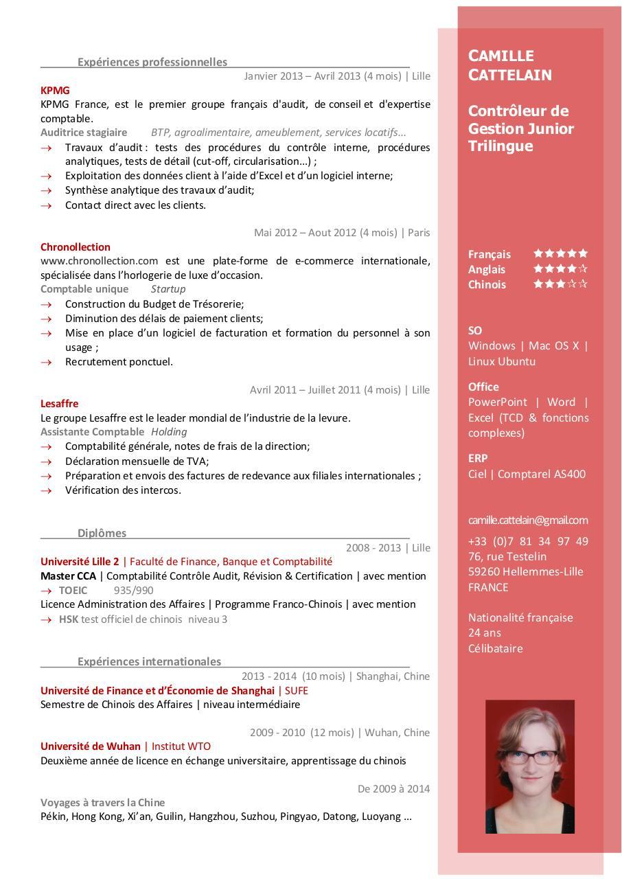 cv apec pdf par catherine