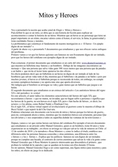 Fichier PDF espagnol mythes et heros