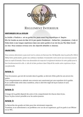 reglement interieur guilde v ndicta
