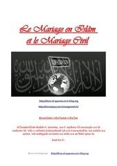 mariage en islam et mariage civil
