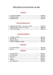 menu du 26 06 2014
