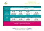 organisation evenement du 15 nov 2014