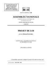 texte de la loi portant reforme du ferroviaire vote en premiere lecture
