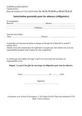 autorisation parentale concours 2014
