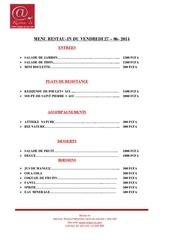 menu restau in du 27 06 2014