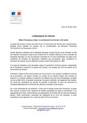 2014 06 20 communique garde des sceaux