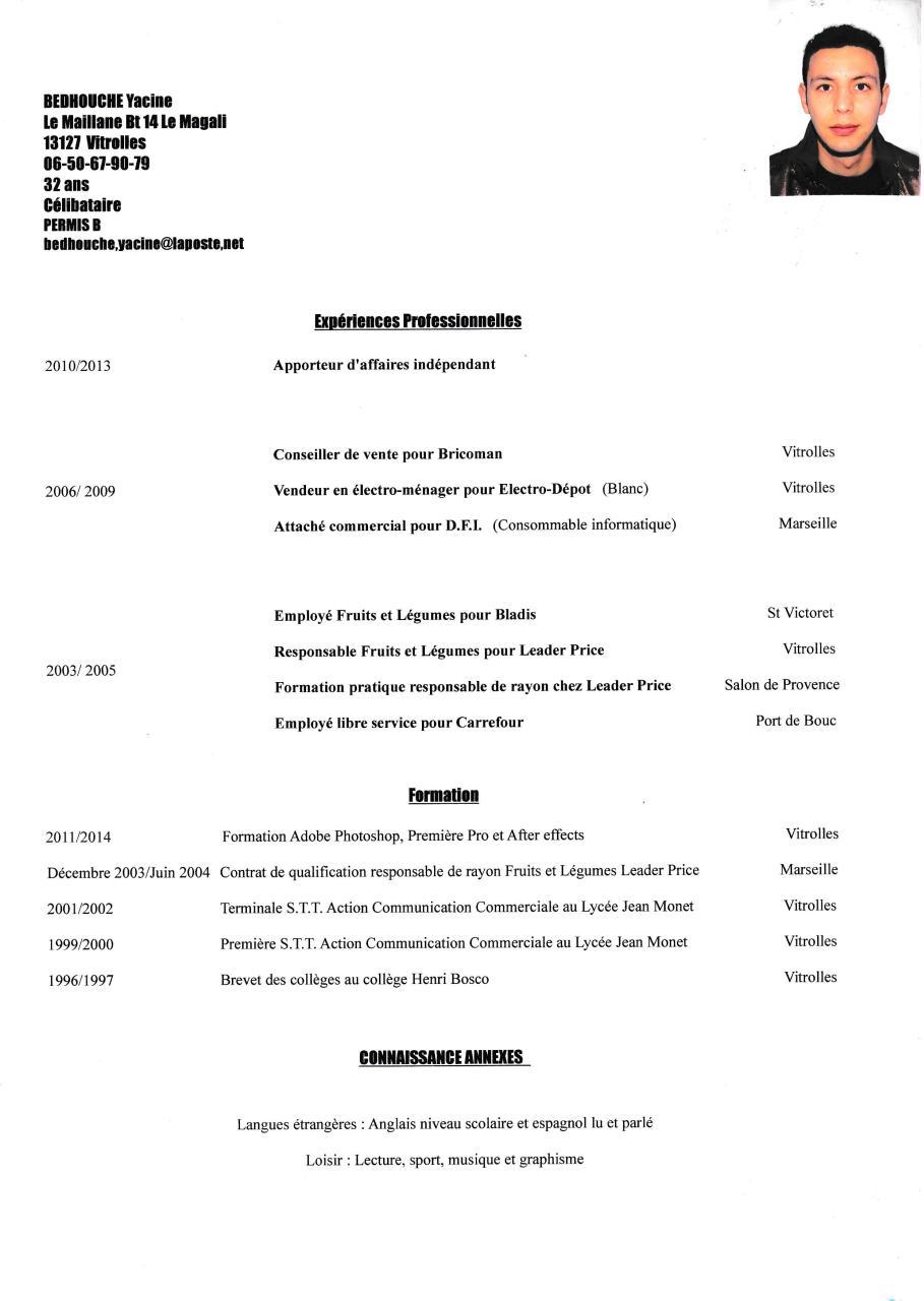 cv bedhouche yacine  cv bedhouche yacine pdf