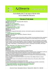 gacetilla de actividades 27 de junio al 4 de julio