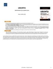 ubuntu administration d un systeme linux