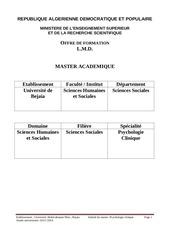 master psychologie clinique