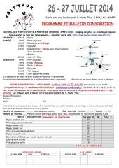 t lt thur 2014 programme et bulletin d inscription