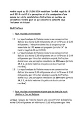 arrete royal du 25 juin 2014 modifiant l