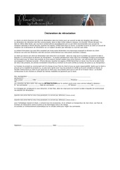 Fichier PDF declaration de retractation