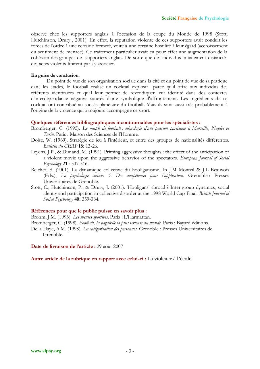 Aperçu du document PSYCHOLOGIE DU SUPPORTER.pdf - page 3/3